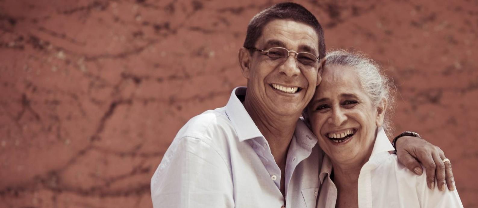 Maria Bethânia e Zeca Pagodinho, que lançam turnê no Recife Foto: Leo Martins / Agência O Globo