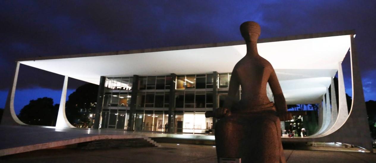A sede do Supremo Tribunal Federal (STF) Foto: Givaldo Barbosa / Agência O Globo