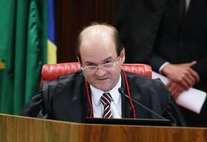 O ministro Tarcísio Vieira em sessão, 30/06/2017 Foto: Ailton de Freitas / Agência O Globo