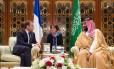 Macron e Bin Salman se encontram em Riad, em novembro de 2017