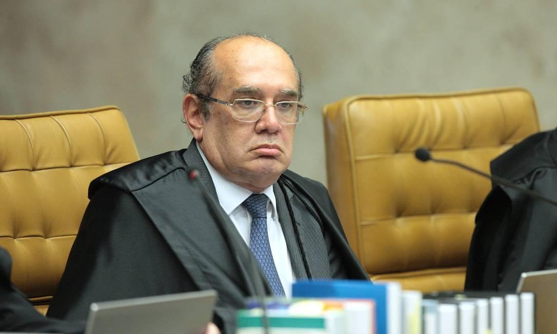 O ministro Gilmar Mendes em sessão do Supremo Tribunal Federal (STF) Foto: Divulgação
