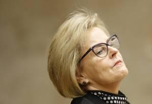 A ministra Rosa Weber Foto: Ailton de Freitas / Agência O Globo / 4-4-18