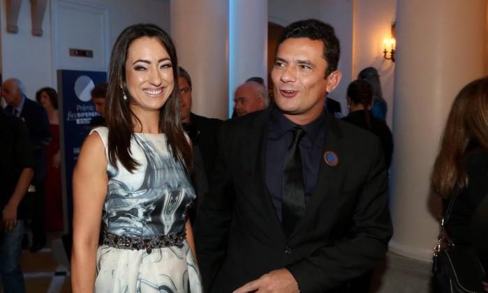 A advogada Rosângela Moro, ao lado do seu marido, o juiz Sergio Moro Foto: Marcos Ramos/Agência O Globo