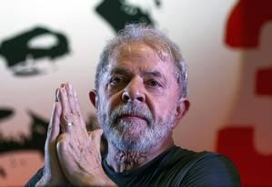 Ex-presidente Lula na sede do PT, em São Paulo Foto: MIGUEL SCHINCARIOL 22-02-2018 / AFP