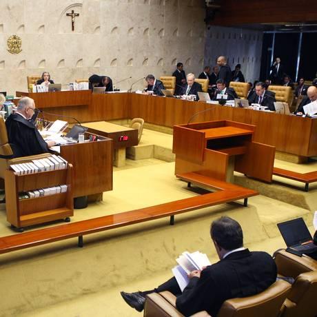 Sessão plenária do Supremo Tribunal Federal Foto: Nelson Jr./STF