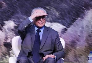 O presidente Michel Temer participa de cerimônia na Embrapa Foto: Ailton de Freitas / Agência O Globo