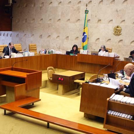 Sessão plenário do STF Foto: Nelson Jr./STF
