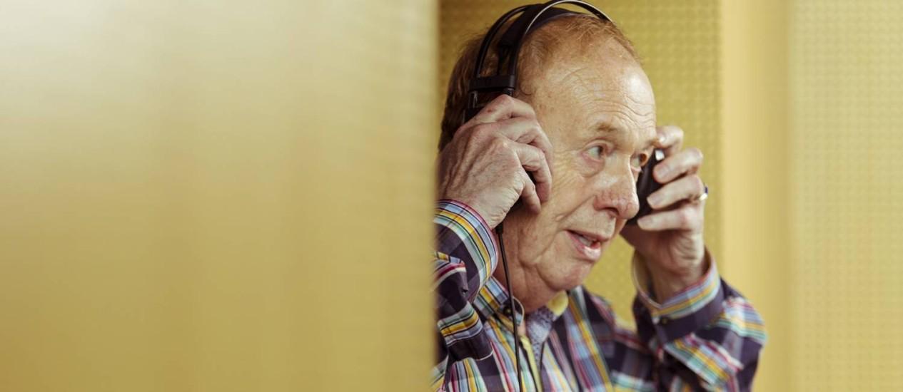 Geoff Emerick, engenheiro de estúdio dos Beatles Foto: Leo Martins / Agência O Globo