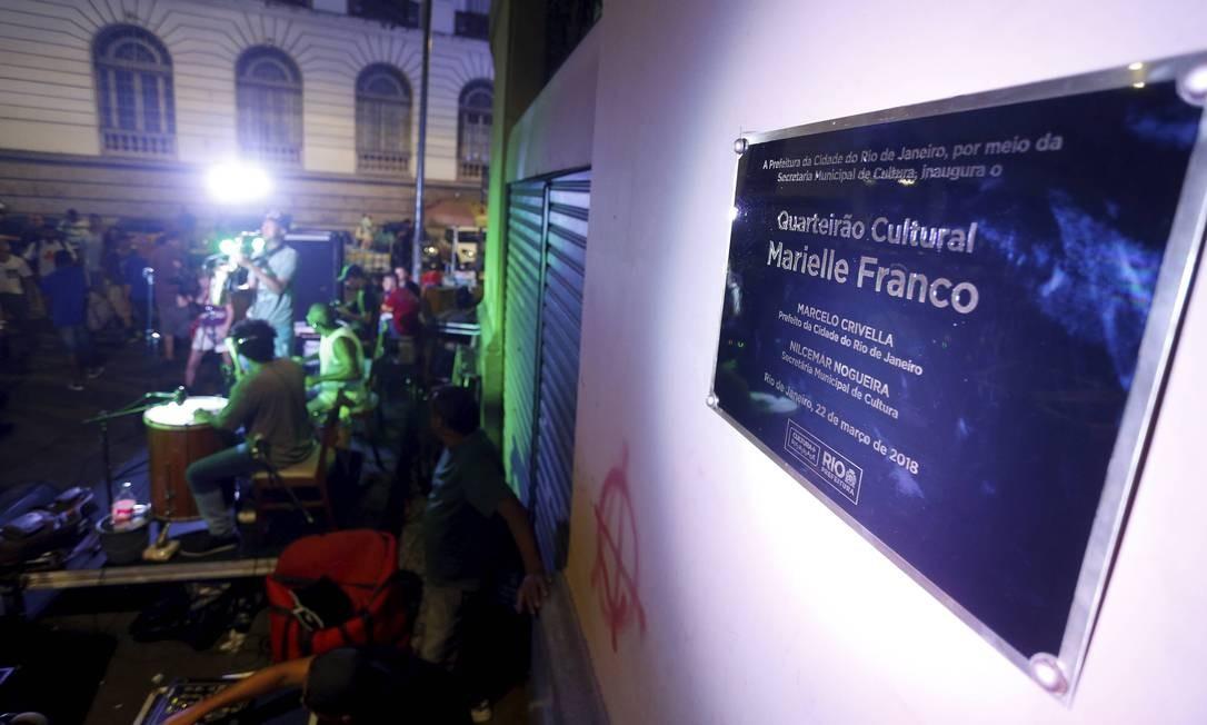 Quarteirão Cultural Marielle Franco é inaugurado no Centro do Rio de Janeiro Foto: Agência O Globo