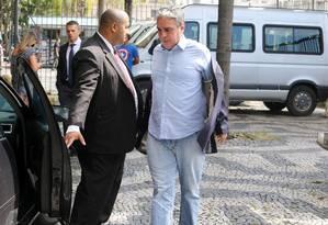 André Ceciliano ao deixar a Secretaria de Segurança: negociação sobre liberação de PMs cedidos à Alerj Foto: Guilherme Pinto / Agência O Globo