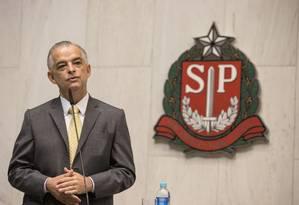 O governador do Estado de São Paulo, Marcio França, participa da cerimônia de posse na Alesp Foto: Divulgação