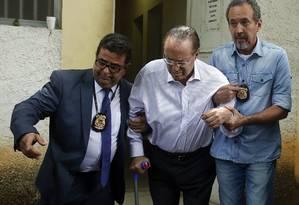 Paulo Maluf no IML de São Paulo, após ser preso em dezembro de 2017 Foto: Edilson Dantas/Agência O Globo/20-12-2017