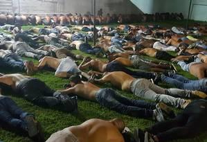 Os presos suspeitos de atuar na milícia em Santa Cruz Foto: Divulgação / Polícia Civil