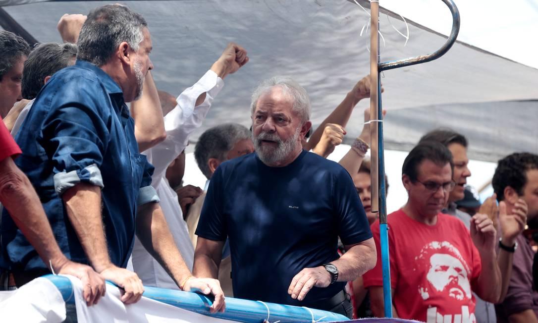 O ex-presidente Luiz Inacio Lula da Silva, na sede do Sindicato dos Metalúrgicos no ABC Foto: Leonardo Benassatto / Reuters