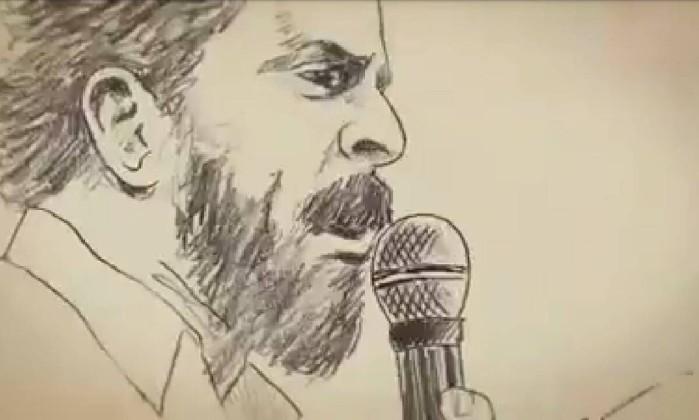 Reprodução de filme feito em animação com o ex-presidente Lula- Reprodução