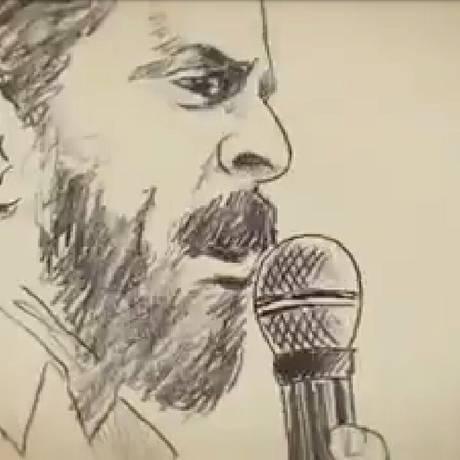 Reprodução de filme feito em animação com o ex-presidente Lula Foto: Reprodução