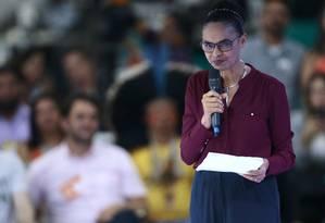 Marina Silva lançou sua pré candidatura nesse sábado (7) Foto: Jorge William / Agência O Globo