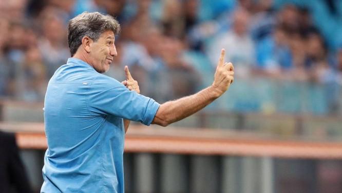 Renato Gaúcho comanda o time do Grêmio na Libertadores Foto: ITAMAR AGUIAR/AFP