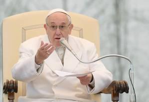 Papa Francisco no Vaticano Foto: TIZIANA FABI / AFP