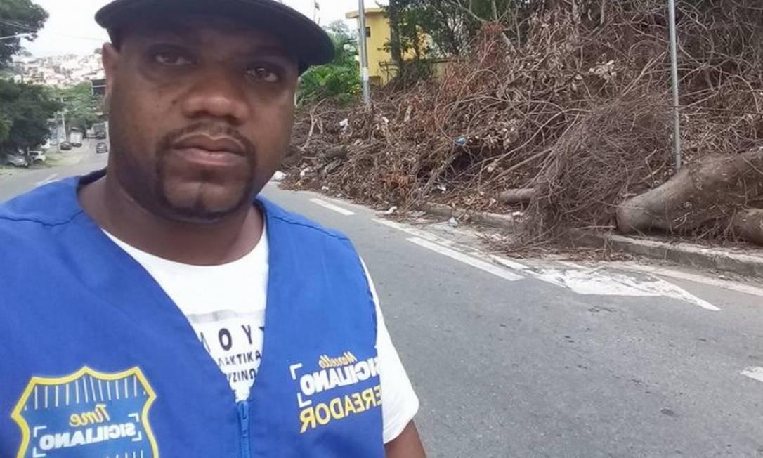 Alexandre Cabeça, assessor informal de Marcello Siciliano, foi morto na Taquara Foto: Facebook / Reprodução