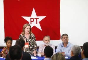 Em reunião da executiva, PT mantém pressão sobre STF Foto: Pablo Jacob/ Agência O Globo
