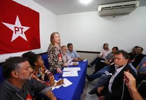 Reunião executiva nacional do PT, em Curitiba Foto: Pablo Jacob / Agência O Globo
