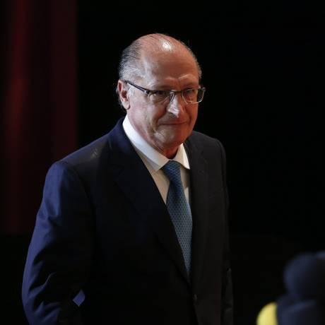 Ex- governador de São Paulo e pré-candidato do PSDB à Presidência, Geraldo Alckmin Foto: Marcos Alves / Agência O Globo 06/03/2018