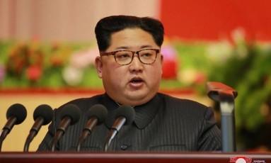 O ditador norte-coreano, Kim Jong-un Foto: KCNA
