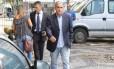 O presidente da Alerj, André Ceciliano, ao deixar a Secretaria de Segurança, onde se reuniu com o secretário Richard Nunes em 06\04\2018