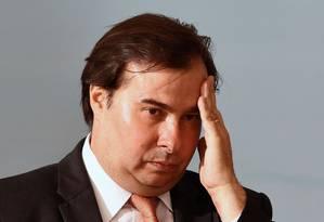 o presidente da Câmara dos Deputados, Rodrigo Maia Foto: EVARISTO SA / AFP