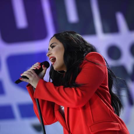 A cantora Demi Lovato Foto: JIM WATSON / AFP