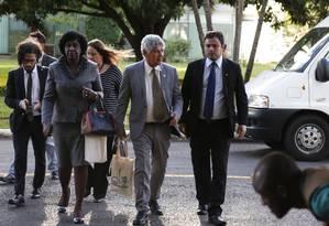Deputados federais do Rio chegam para reunião com o interventor Braga Netto Foto: Michel Filho / Agência O Globo