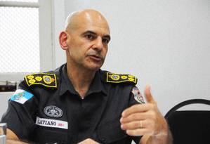 """O comandante-geral Laviano: """"Ninguém vai manchar nossa corporação"""" Foto: Paulo Nicolella / Agência O Globo"""