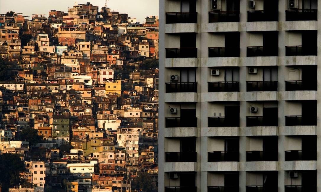 Vista da Rocinha Foto: Mauro Pimentel / AFP