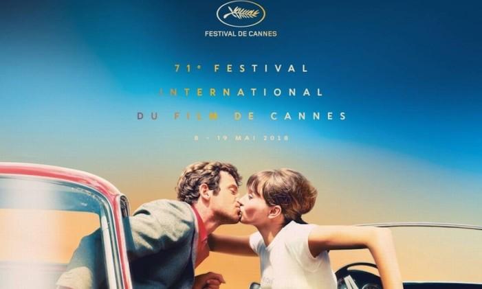 Versão 'retrato' do pôster do 71º Festival de Cannes Foto: Divulgação