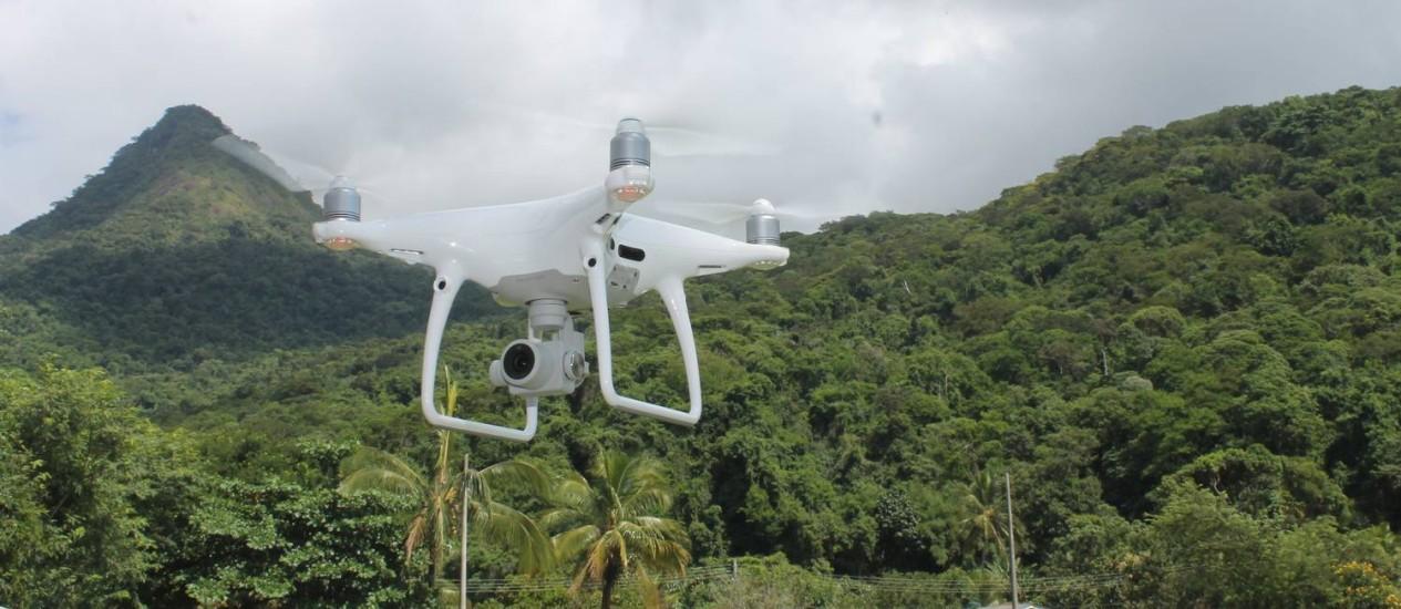 Inea utiliza drone para monitorar desmatamento ilegal em Ilha Grande Foto: Divulgação