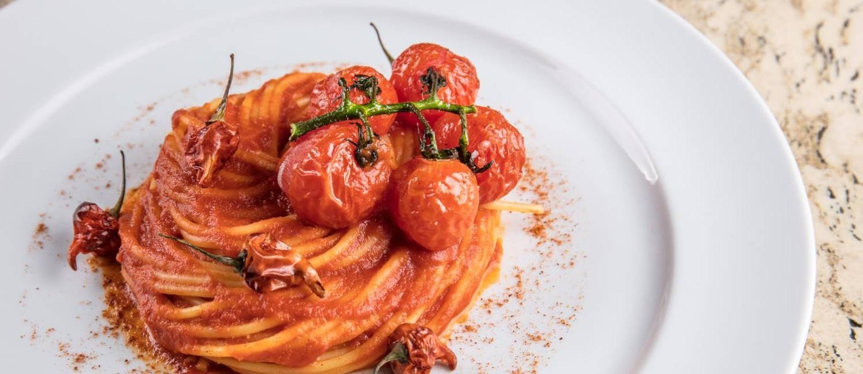 Menu vegetariano do Fasano: espaguete all'arrabiata Foto: Tomas Rangel / Divulgação
