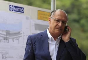 Geraldo Alckmin visita obras do trem em São Paulo Foto: Edilson Dantas/Agência O Globo/16-02-2018