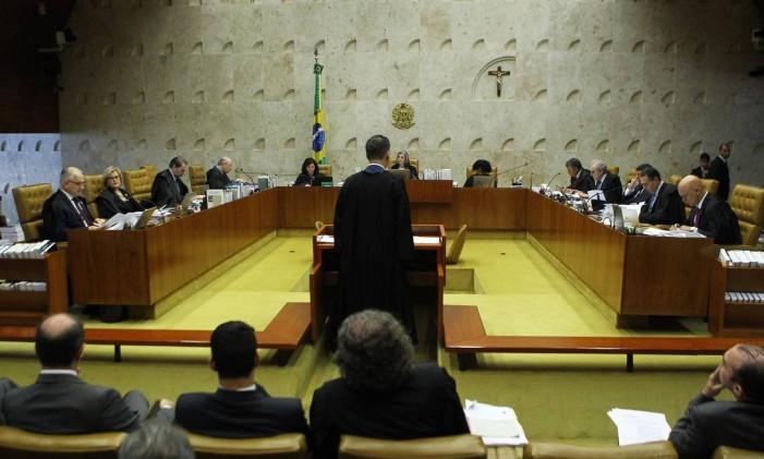 Ministros do STF julgam habeas corpus do ex-ministro Antônio Palocci Foto: Jorge William / Agência O Globo 11/04/2018