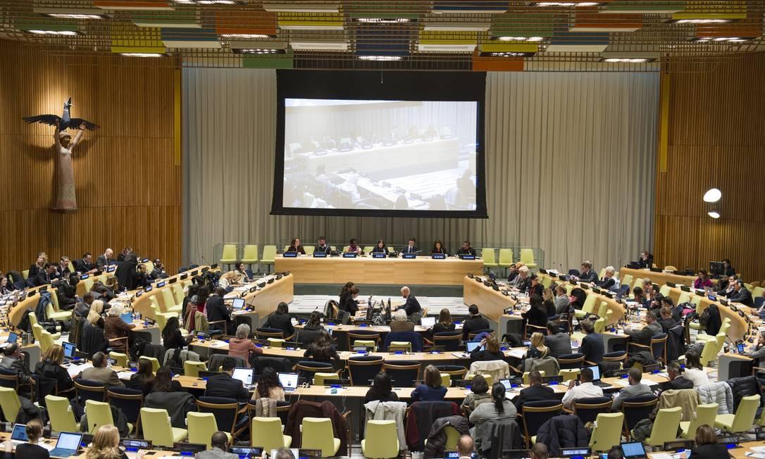 Plenário da ONU Foto: UN Photo/Rick Bajornas