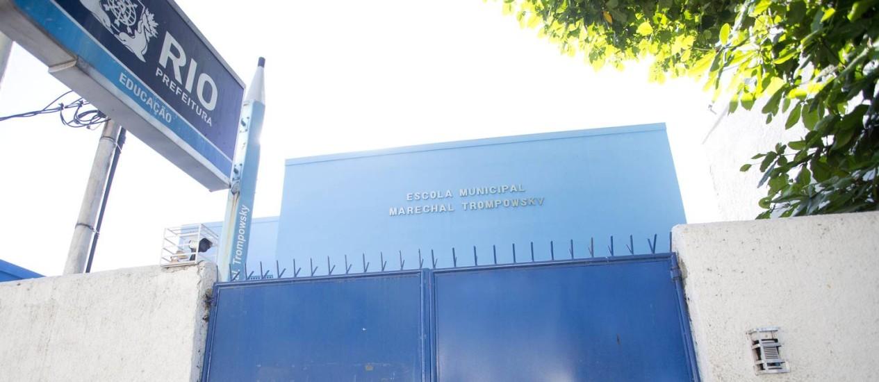 Escola municipal Marechal Trompowsky, em São Cristóvão, está com aulas suspensas Foto: Márcia Foletto