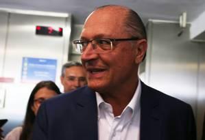 O ex-governador de São Paulo, Geraldo Alckmin Foto: Givaldo Barbosa / Agência O Globo/8-12-17