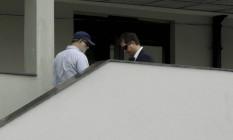 Preso na Lava-Jato, o ex-assessor nacional de comunicação do PT, Marcelo Sereno, chega à sede da Polícia Federal Foto: Gabriel de Paiva / Agência O Globo