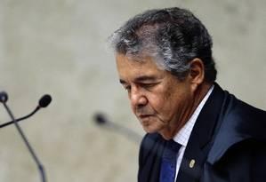 O ministro Marco Aurélio Mello, durante sessão do STF Foto: Jorge William / Agência O Globo