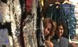 Duda (à esquerda) e Mayra em meio a peças que fizeram para Alceu Valença no carnaval de 2017