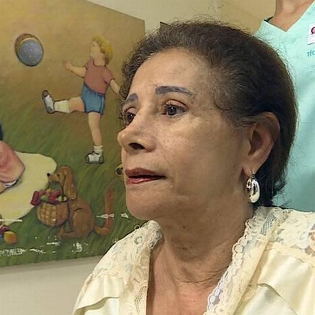 Norma Maria de Oliveira se recupera bem do parto, aos 64 anos Foto: Reprodução/TV Globo