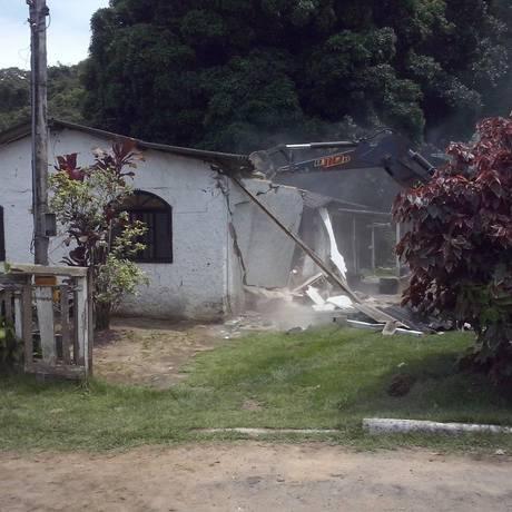 Demolições na Aldeia do Imbuhy ocorreram no fim de 2015 Foto: Foto de leitor