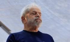 O ex-presidente Lula discursa no Sindicato dos Metalurgicos, no ABC Foto: Edilson Dantas/Agência O Globo/07-03-2018