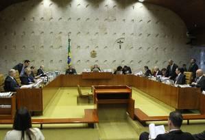 Plenário do Supremo Tribunal Federal Foto: Jorge William/Agência O Globo/12-04-2018