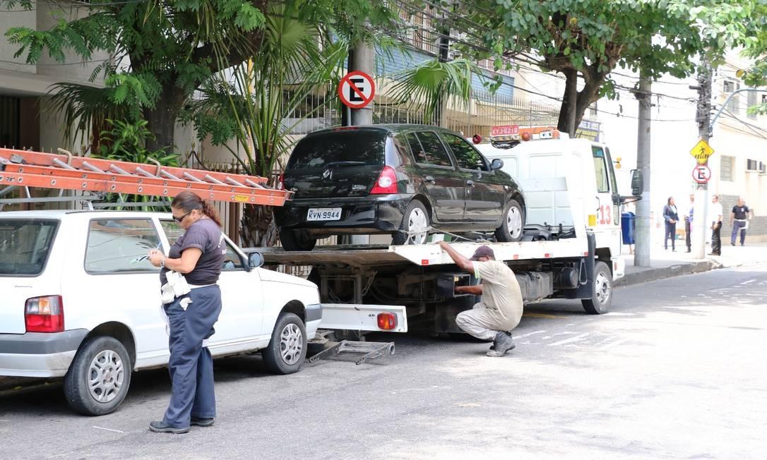 NitTrans faz operação de fiscalização de estacionamento irregular: categoria é a campeã de denúncias Foto: Divulgação